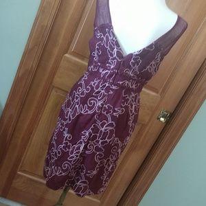 Anthropology Burgundy Petite Dress